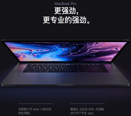 Apple MacBook Pro 15.4英寸笔记本电脑 银色 配备2018新款(六核八代i7 16G 256G固态硬盘 MR962CH/A)