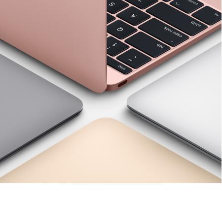 Apple MacBook 12英寸笔记本电脑 玫瑰金色(2017款Core m3 处理器/8GB内存/256GB闪存 MNYM2CH/A)